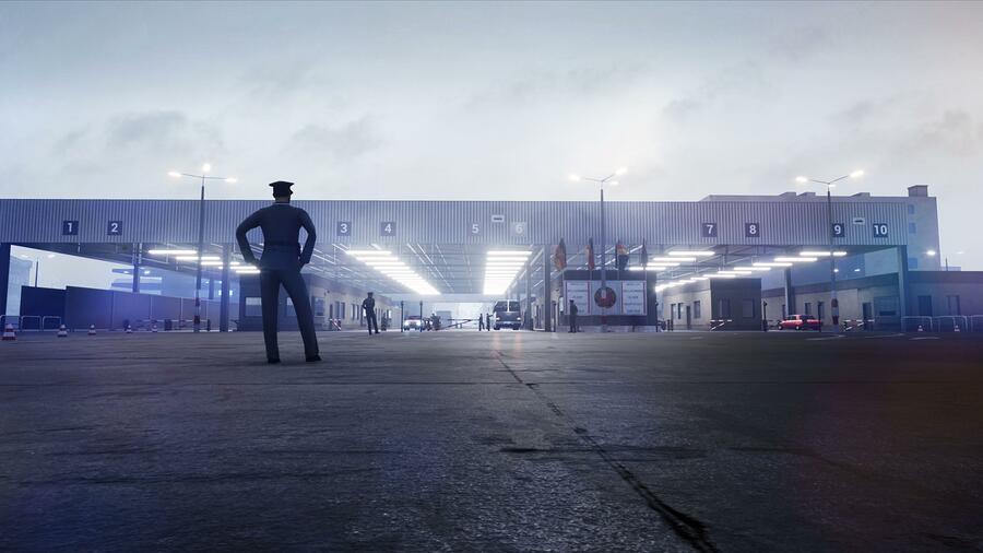 Checkpoint Charlie through TimeRide Berlin.